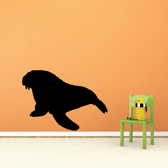 Walrus Silhouette Decal