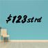 $123 One Two Three Street Road Wall Decal - Vinyl Decal - Car Decal - Business Sign - MC628