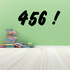 456 Four Five Six Wall Decal - Vinyl Decal - Car Decal - Business Sign - MC629