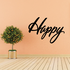Happy Wall Decal - Vinyl Decal - Car Decal - Business Sign - MC643