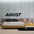 August Wall Decal - Vinyl Decal - Car Decal - Business Sign - MC660