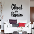 Closed for Repairs Wall Decal - Vinyl Decal - Car Decal - Business Sign - MC686