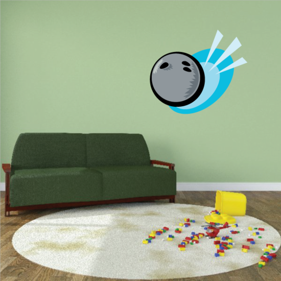 Action Color Bowling Ball Sticker