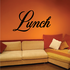 Lunch Wall Decal - Vinyl Decal - Car Decal - Business Sign - MC723