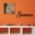 Summer Wall Decal - Vinyl Decal - Car Decal - Business Sign - MC731