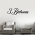 3 Three Bedroom Wall Decal - Vinyl Decal - Car Decal - Business Sign - MC732