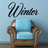 Winter Wall Decal - Vinyl Decal - Car Decal - Business Sign - MC735