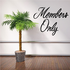 Members Only Wall Decal - Vinyl Decal - Car Decal - Business Sign - MC746