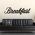 Breakfast Wall Decal - Vinyl Decal - Car Decal - Business Sign - MC764
