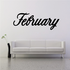 February Wall Decal - Vinyl Decal - Car Decal - Business Sign - MC769