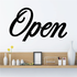 Open Wall Decal - Vinyl Decal - Car Decal - Business Sign - MC782