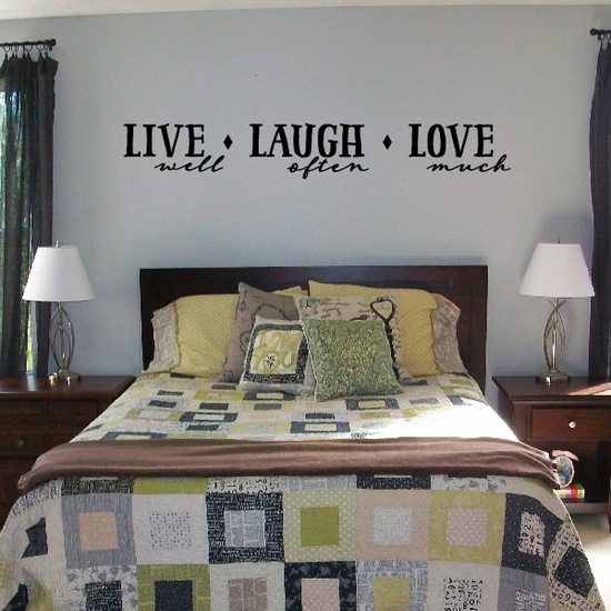 Live Well Laugh Often Love Much Decal