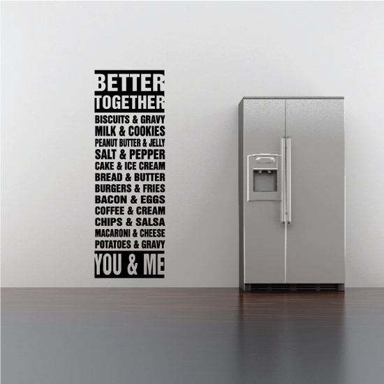 Better Together Word Collage Decal