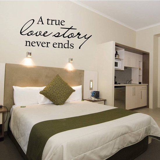 A True Love Story Never Ends Wall Decal