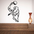 Volleyball Wall Decal - Vinyl Decal - Car Decal - CDS006