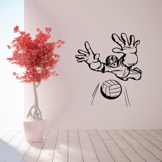 Volleyball Wall Decal - Vinyl Decal - Car Decal - CDS021