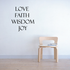 Love Faith Decal