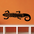 Lizard Tribal Vehicle Pinstripe Wall Decal - Vinyl Decal - Car Decal - MC86