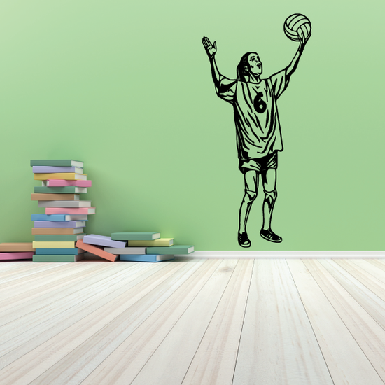 Volleyball Wall Decal - Vinyl Decal - Car Decal - CDS038