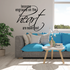 Lessons engraved on the heart are never lost Wall Decal