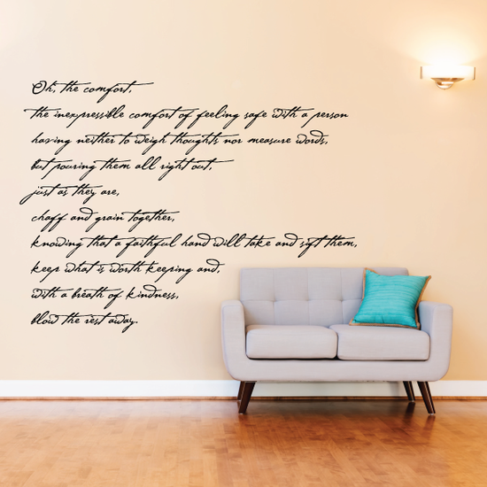 Oh the comfort Wall Decal