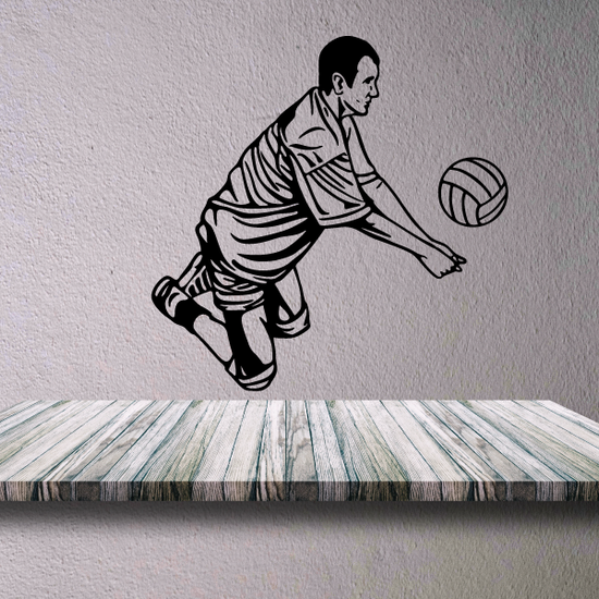 Volleyball Wall Decal - Vinyl Decal - Car Decal - CDS039