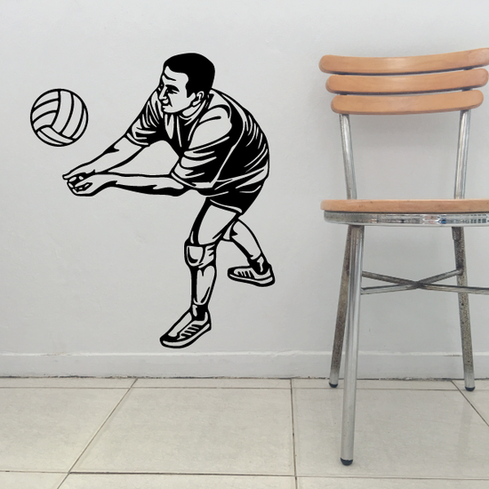 Volleyball Wall Decal - Vinyl Decal - Car Decal - CDS040