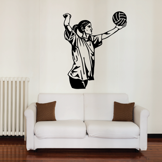 Volleyball Wall Decal - Vinyl Decal - Car Decal - CDS041