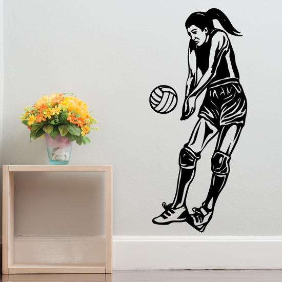 Volleyball Wall Decal - Vinyl Decal - Car Decal - CDS054