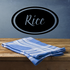 Rice Oval Decal