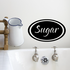 Sugar oval Decal