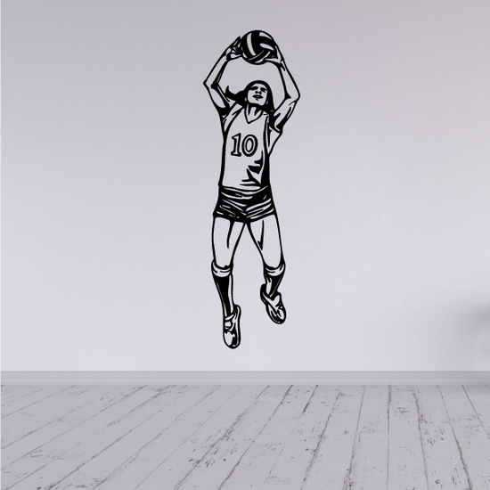 Volleyball Wall Decal - Vinyl Decal - Car Decal - CDS059