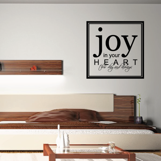 Joy in your heart this day and always Decal