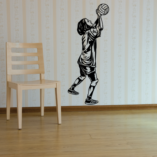 Volleyball Wall Decal - Vinyl Decal - Car Decal - CDS062