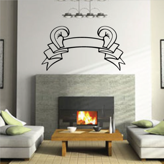 Boxing Gloves Scroll Decal