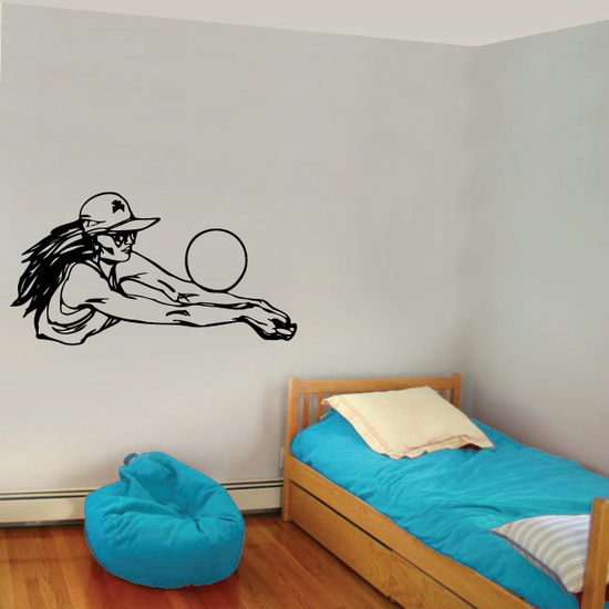 Volleyball Wall Decal - Vinyl Decal - Car Decal - CDS071