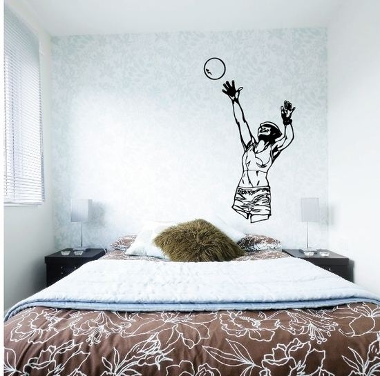 Volleyball Wall Decal - Vinyl Decal - Car Decal - CDS078