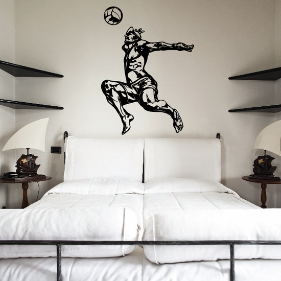 Volleyball Wall Decal - Vinyl Decal - Car Decal - CDS079