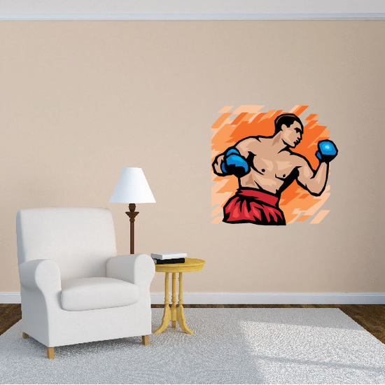 Boxing Wall Decal - Vinyl Sticker - Car Sticker - Die Cut Sticker - SMcolor004