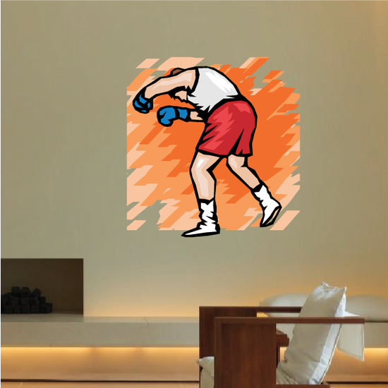 Boxing Wall Decal - Vinyl Sticker - Car Sticker - Die Cut Sticker - SMcolor005