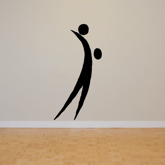 Volleyball Wall Decal - Vinyl Decal - Car Decal - Bl013