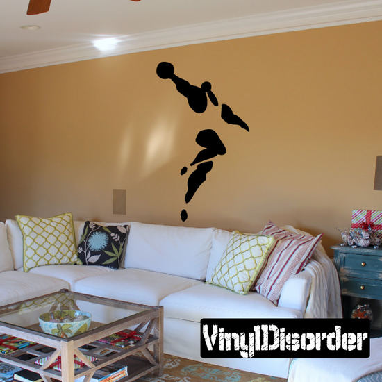 Volleyball Wall Decal - Vinyl Decal - Car Decal - Bl015