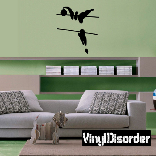Volleyball Wall Decal - Vinyl Decal - Car Decal - Bl016