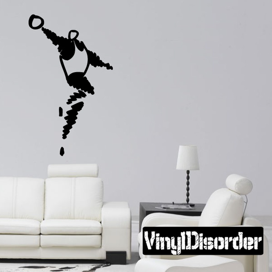 Volleyball Wall Decal - Vinyl Decal - Car Decal - Bl018