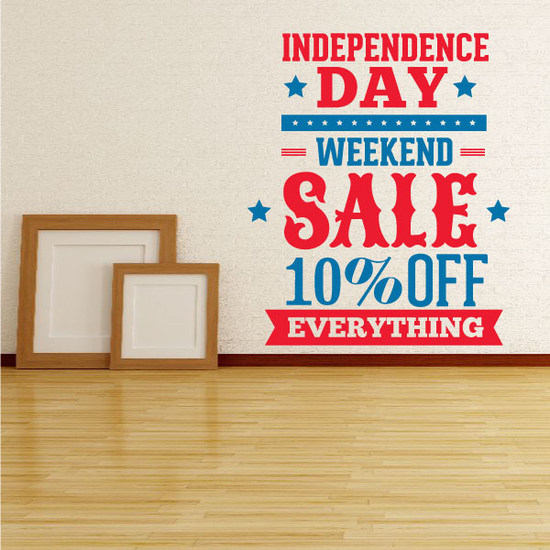 Business Independence Day Weekend Sale Decal