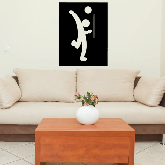Volleyball Wall Decal - Vinyl Decal - Car Decal - Bl021