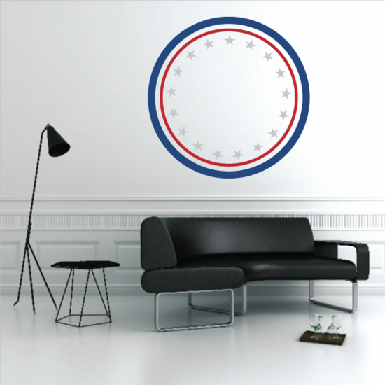 4th Of July Circle Motif Decal