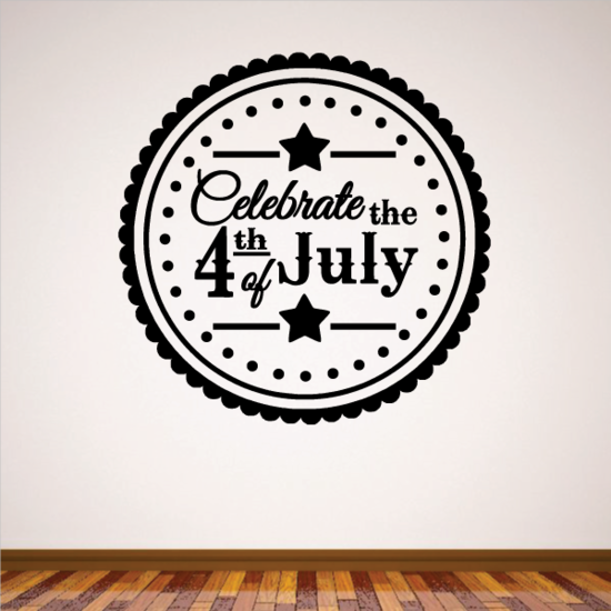 Circle Celebrate the 4th Of July Decal
