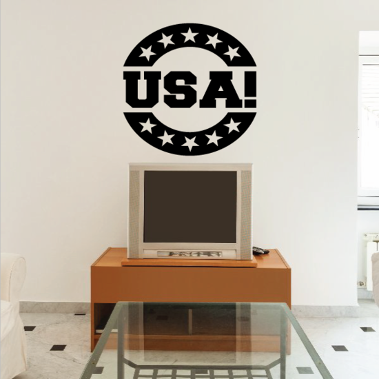 Circle with Stars USA Decal