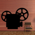 Movie Theater Camera Reel Decal